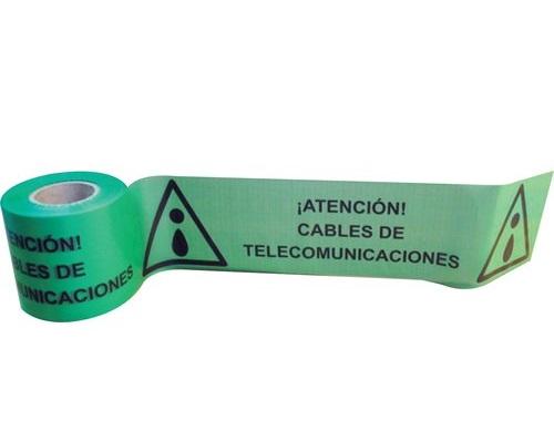 CINTA SEÑALIZACIÓN CABLE DE TELECOMUNICACIONES